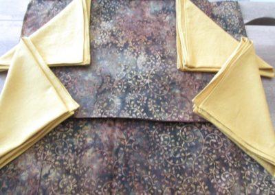 Brown batik placemat set